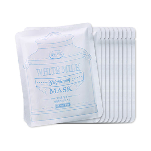 DMASK  White Milk Brightening Mask - 1pack (10pcs)