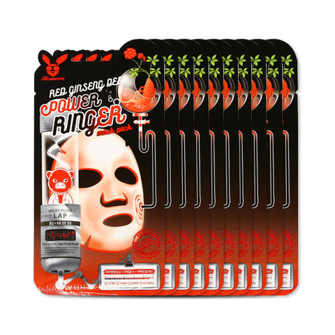 ELIZAVECCA  Red Ginseng Deep Power Ringer Mask Pack - 1pack (10pcs)