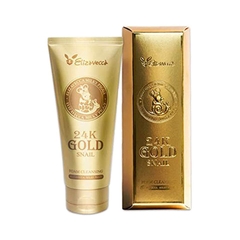 ELIZAVECCA  24k Gold Snail Foam Cleansing - 180ml