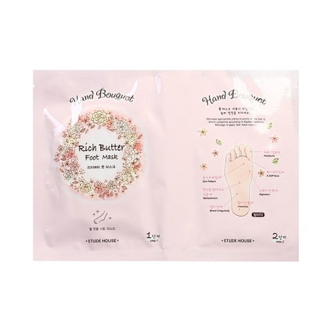 ETUDE HOUSE  Hand Bouquet Rich Butter Foot Mask - 1pcs