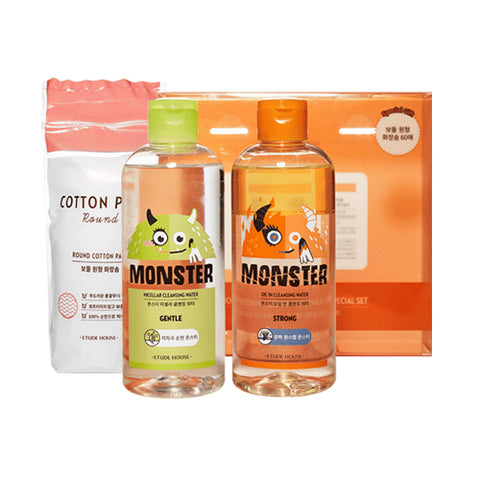 ETUDE HOUSE  Monster Cleansing Water Duo Special Set - 1pack (3item)