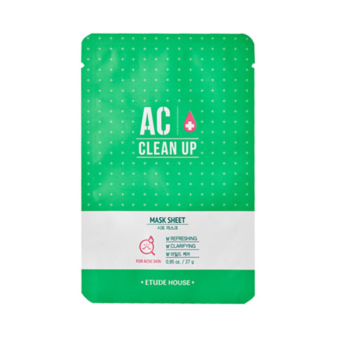 W-ETUDE HOUSE  AC Clean Up Mask Sheet - 1pcs x 10ea