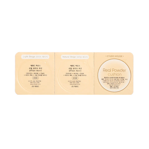 ETUDE HOUSE_Sample  Real Powder Cushion Samples - 1pack (2color+puff) (SPF50+ PA+++)
