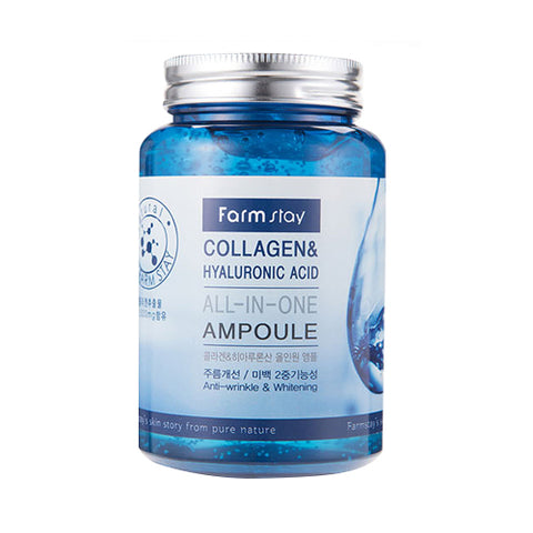 FARM STAY  Collagen & Hyaluronic Acid All In One Ampoule - 250ml