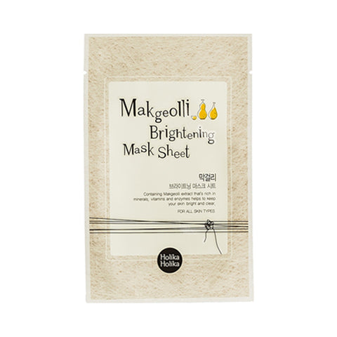 Holika Holika  Makgeolli Brightening Mask Sheet - 1pcs