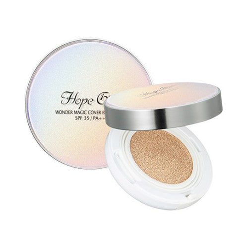 Hope Girl  Wonder Magic Cover BB Cushion - 15g (SPF35 PA++) No.105 Light Beige