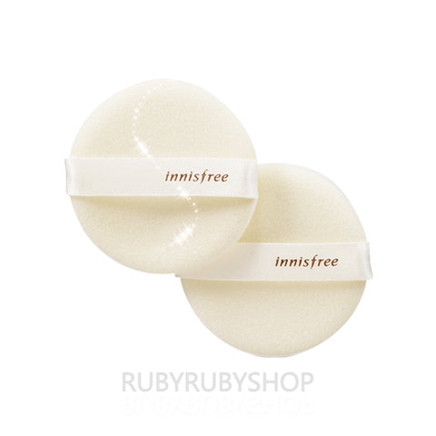INNISFREE  Eco Beauty Make Up Pact Round Puff - 2ea
