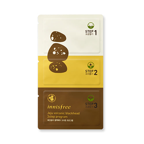 INNISFREE  Jeju Volcanic Blackhead 3step Program - 1pcs (New)