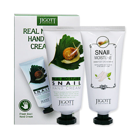 JIGOTT  Real Moisture Hand & Foot Cream Set - 1pack (Hand 100ml+Foot 100ml)