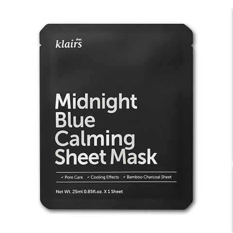 Klairs  Midnight Blue Calming Sheet Mask - 1pcs