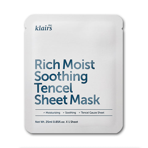Klairs  Rich Moist Soothing Tencel Sheet Mask - 1pcs