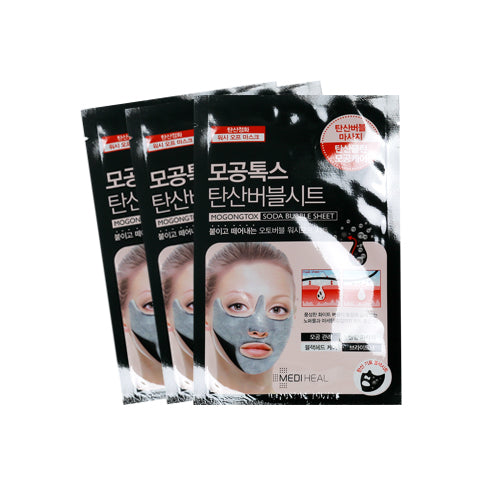 MEDIHEAL  Mogongtox Soda Bubble Sheet - 3pcs