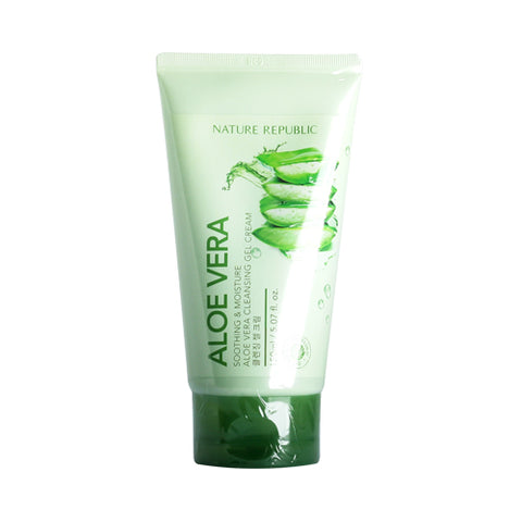 NATURE REPUBLIC  Soothing & Moisture Aloe Vera Cleansing Gel Cream - 150ml (new)