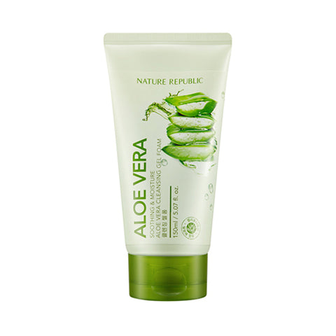 NATURE REPUBLIC Soothing & Moisture Aloe Vera Cleansing Gel Foam - 150ml (new)