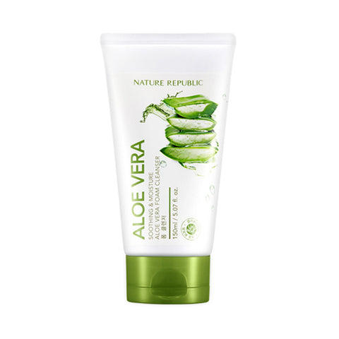 NATURE REPUBLIC  Soothing & Moisture Aloe Vera Foam Cleanser - 150ml (new)