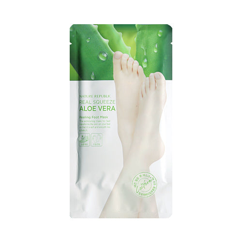 NATURE REPUBLIC  Real Squeeze Aloe Vera Peeling Foot Mask - 1pcs