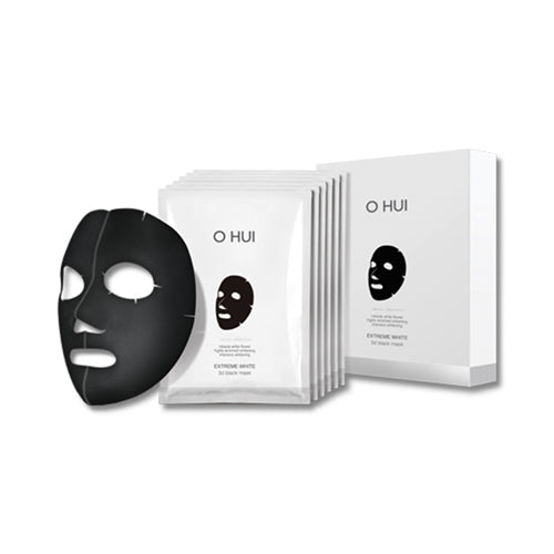 OHUI  Extreme White 3D Black Mask - 1pack (6pcs)