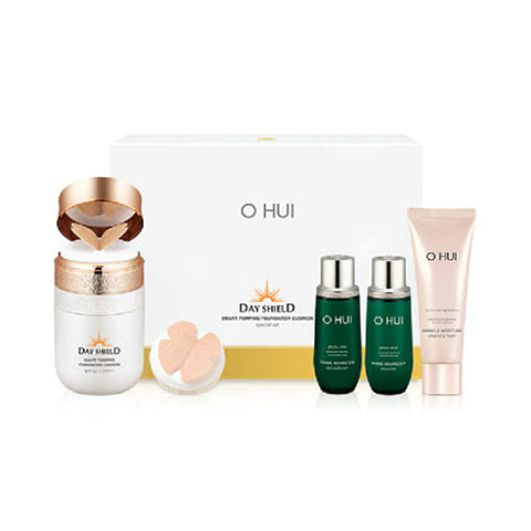 OHUI  Day Shield Smart Pumping Foundation Cushion 2Set - 1pack (5items)