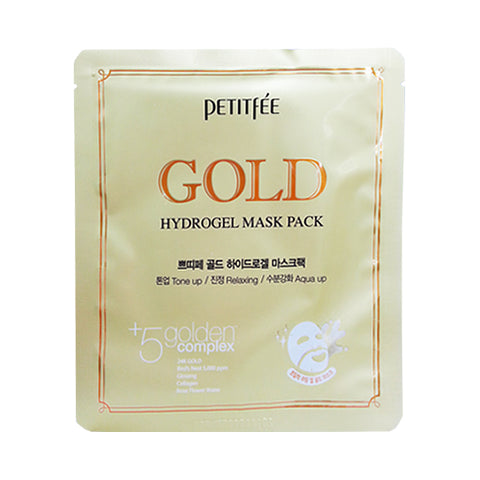 PETITFEE  Hydrogel Mask Pack - 1pack (5pcs) #Gold