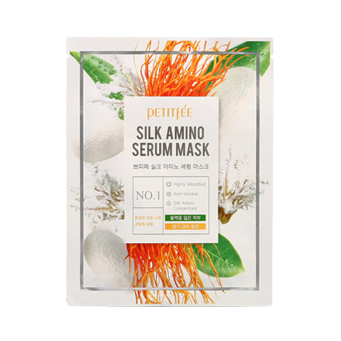 PETITFEE  Silk Amino Serum Mask - 1pack (10pcs)