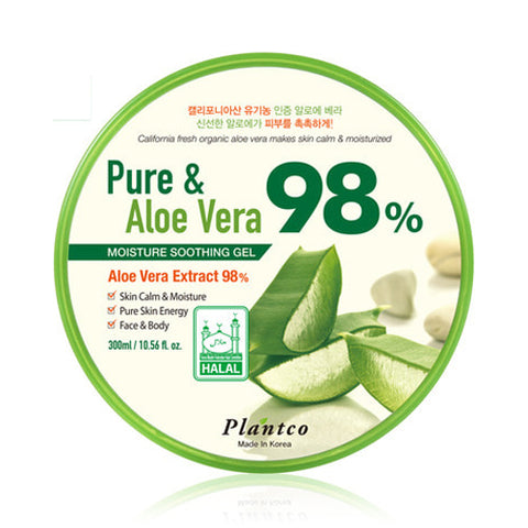 PLANTCO  Pure & Aloe Vera 98% Moisture Soothing Gel - 300ml