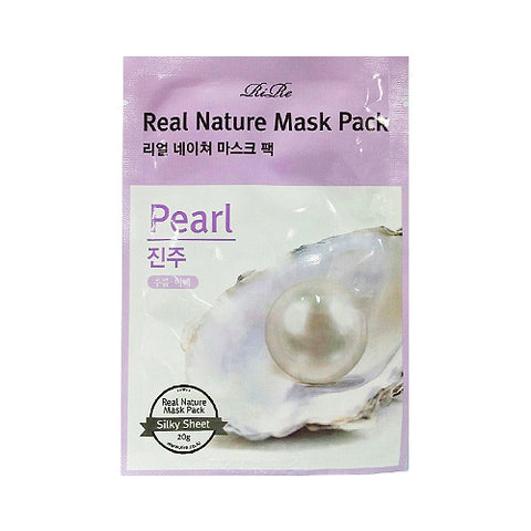 RiRe  Real Nature Mask Pack - 1pcs No.Pearl