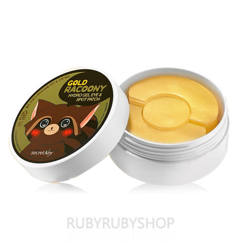 Secret Key  Gold Racoony Hydro Gel Eye & Spot Patch (Eye 60eaSpot 30ea)