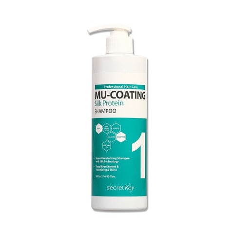 Secret Key  Mu Coating Silk Protein Shampoo - 500ml
