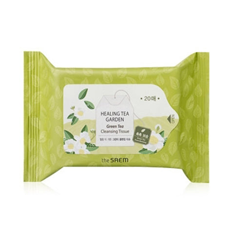 THESAEM  Healing Tea Garden Green Tea Cleansing Tissue - 1pack (20pcs)