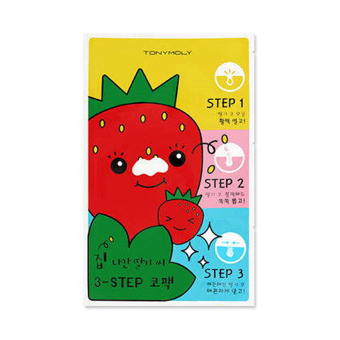 TONYMOLY  Runaway Strawberry Seeds 3 Step Nose Pack - 1pcs