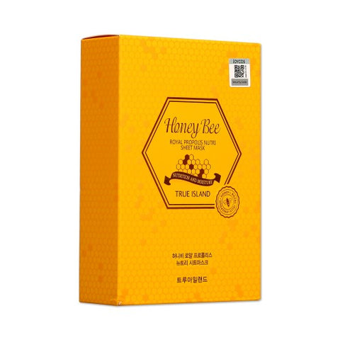 TRUE ISLAND  Honey Bee Royal Propolis Nutri Sheet Mask - 1pack (10pcs)