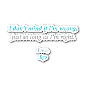 Letter From Ego - Daily Affirmation Sticker