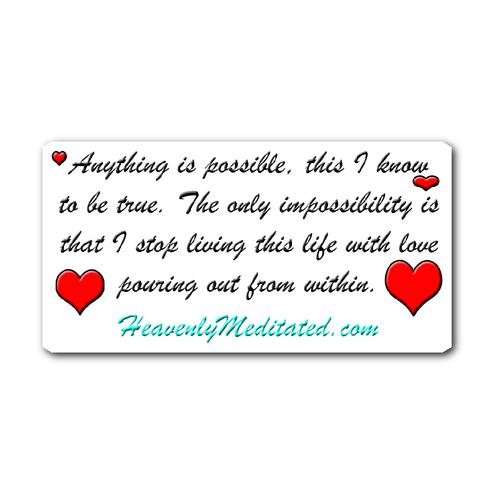 Anything Is Possible - Daily Affirmation Sticker