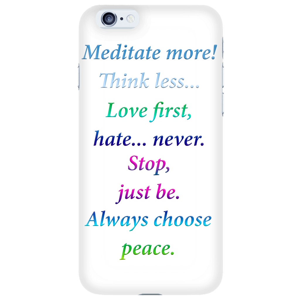 Positive Thoughts - Daily Affirmation iPhone 6 Case