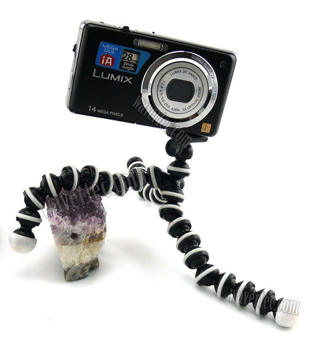 Wavertec Spider Flexible Mini-Tripod for Selfie for iPhone Samsung Galaxy Pocket DC Nikon Canon OEM - wavertec.com - 1