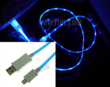 Wavertec Blue 3Ft 1M Illuminating LED Apple 8 Pin Lightning Data Sync Charge Cable to USB Male Apple iPhone 6S Plus 6 SE iPad Air 2 Mini iPod Touch iPod Nano OEM - wavertec.com - 1