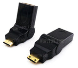 Wavertec 180 Degree Rotate Mini HDMI C Male to HDMI A Female Adapter Connector Converter - wavertec.com - 1