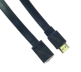 Wavertec 0.5M 1.6Ft HDMI Male to Female Extension Cable 1.4 Flat - wavertec.com - 2