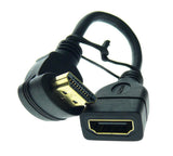 Wavertec Short Right Angle HDMI Extension Cable Standard HDMI Male to Female Adapter 1.4 - wavertec.com - 3