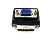 Wavertec Right Angle D-Sub SVGA VGA Female to 24+5 DVI-I Dual Link Male Adapter Converter - wavertec.com - 3