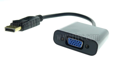 Wavertec DP DisplayPort Male to VGA Female Short Adapter Cable OEM - wavertec.com - 1