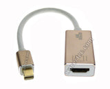 Wavertec 4K Thunderbolt Mini Displayport Male to HDMI Female Short Adapter Cable 1080P Metallic Case Converter Connector HDMI V2.0 3D for Apple MacBook Pro Air to HDMI HDTV Display Projector Short Cable