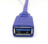 Wavertec 30cm 1Ft Short USB Cable USB Male to Female High Speed USB A 3.0 Extension Cable Round Blue - wavertec.com - 4
