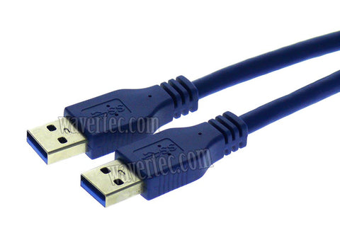 Wavertec 5M 16Ft Male to Male USB Cable High Speed USB3.0 Cable Long Standard USB A Male to USB A Male Long Cable - wavertec.com - 1