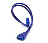 50cm 1.6Ft USB 3.0 Motherboard Adapter Cable 20 Pin Male to Female Extension Header Cable USB Computer Internal Connector - wavertec.com - 2