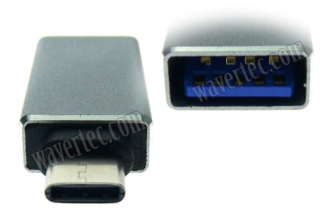 Wavertec USB 3.1 C Male to USB 3.0 A Male Adapter for MacBook 12 - wavertec.com - 1