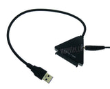 Wavertec US Plug 22 Pin 2.5 3.5 SATA to USB3.0 Adapter Cable with DC Power Adapter Hard Drive USB Adapter - wavertec.com - 2
