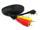 Wavertec 1.8M 3.5mm Jack Male to 3 RCA Male Composite Cable Adapter Right Angle Converter - wavertec.com - 4