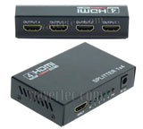 Wavertec 1 in 4 Out HDMI Splitter 1:4 1x4 1080P 3D US Plug 4 Mulit Screen - wavertec.com - 1