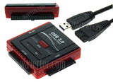 Wavertec 43 & 40 Pin IDE & 22 Pin SATA to USB 3.0 Adapter Cable with OTB External Power US Plug - wavertec.com - 1